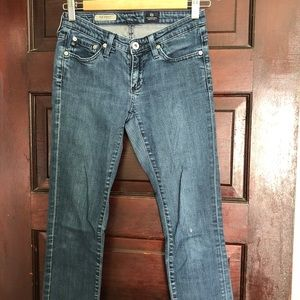 AG Stevie slim straight jeans size 24